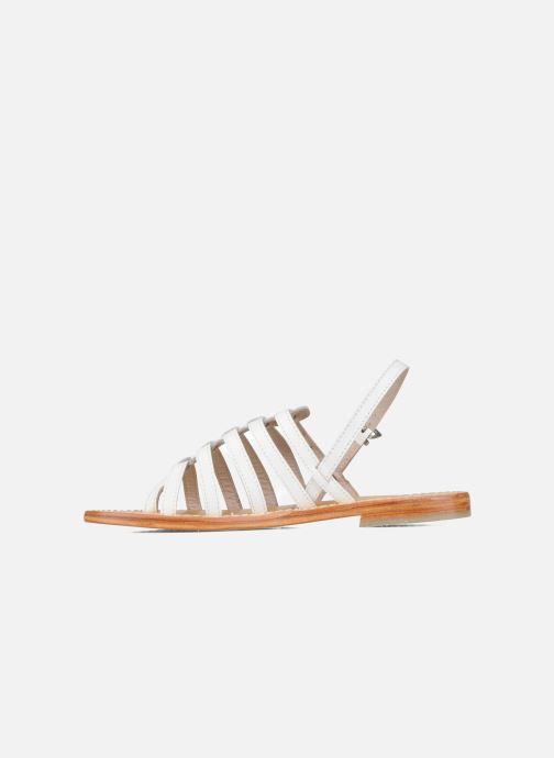 Sandales et nu-pieds Les Tropéziennes par M Belarbi Herisson Blanc vue face