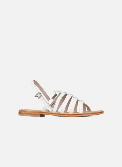 Sandales et nu-pieds Les Tropéziennes par M Belarbi Herisson Blanc vue derrière