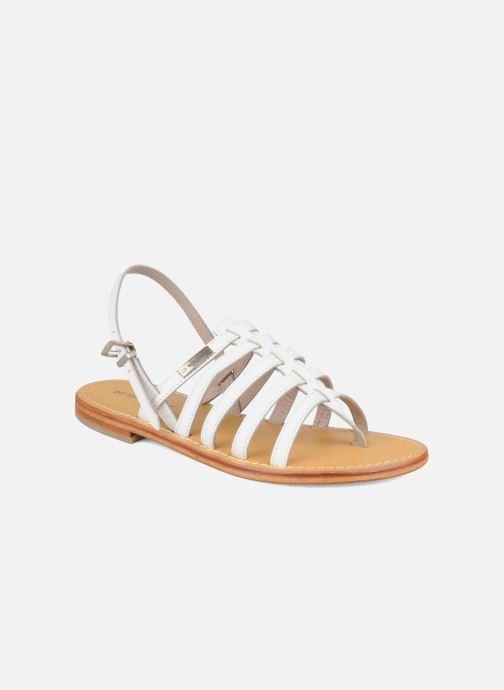 Sandales et nu-pieds Les Tropéziennes par M Belarbi Herisson Blanc vue détail/paire