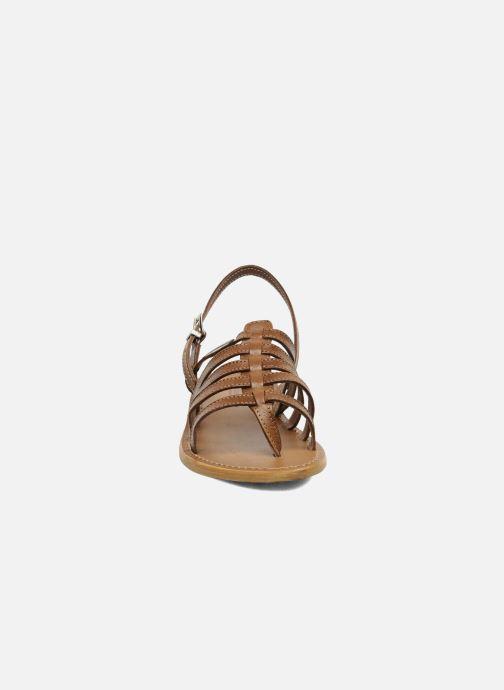 Sandales et nu-pieds Les Tropéziennes par M Belarbi Herisson Marron vue portées chaussures