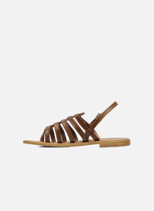 Sandales et nu-pieds Les Tropéziennes par M Belarbi Herisson Marron vue face