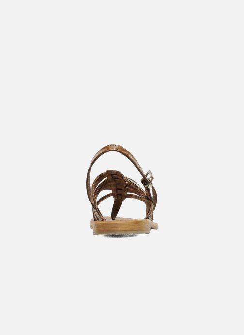 Sandales et nu-pieds Les Tropéziennes par M Belarbi Herisson Marron vue droite