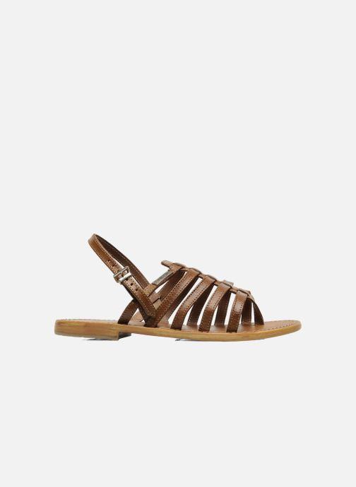 Sandales et nu-pieds Les Tropéziennes par M Belarbi Herisson Marron vue derrière