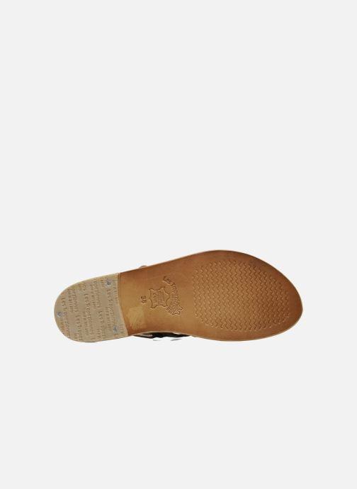 Sandales et nu-pieds Les Tropéziennes par M Belarbi Herisson Marron vue haut
