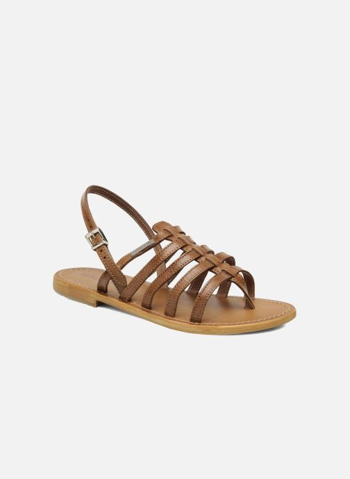 Sandaler Les Tropéziennes par M Belarbi Herisson Brun detaljeret billede af skoene