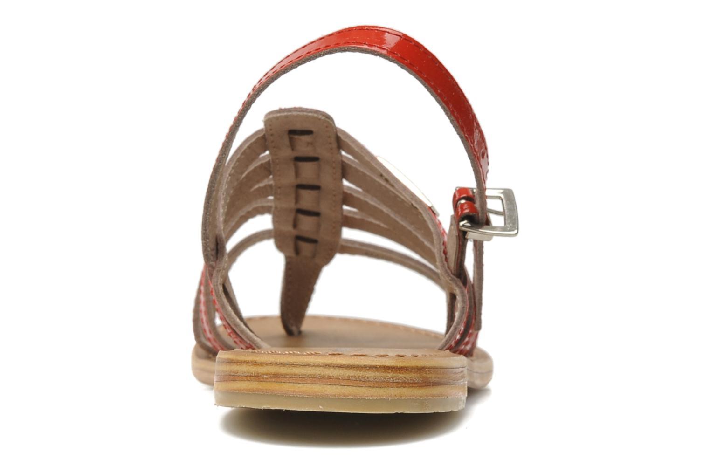 Sandales et nu-pieds Les Tropéziennes par M Belarbi Herisson Rouge vue droite