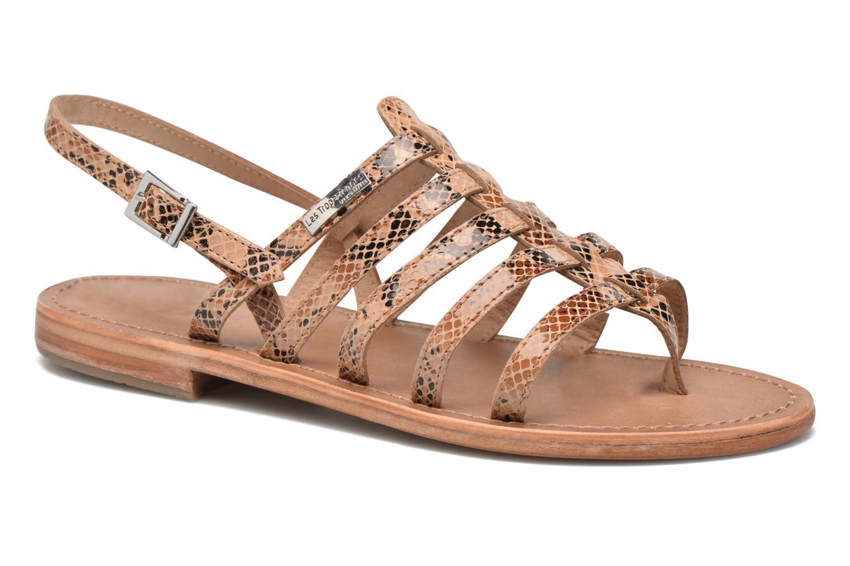 Sandales et nu-pieds Les Tropéziennes par M Belarbi Herisson Beige vue détail/paire