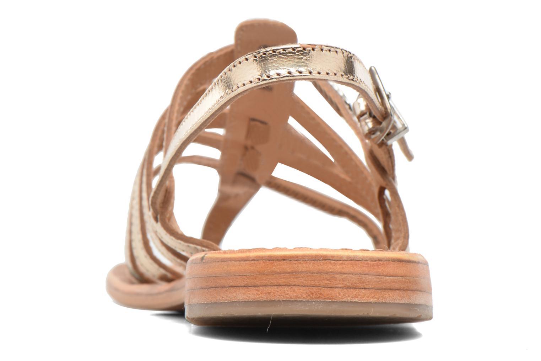 Sandales et nu-pieds Les Tropéziennes par M Belarbi Herisson Or et bronze vue droite