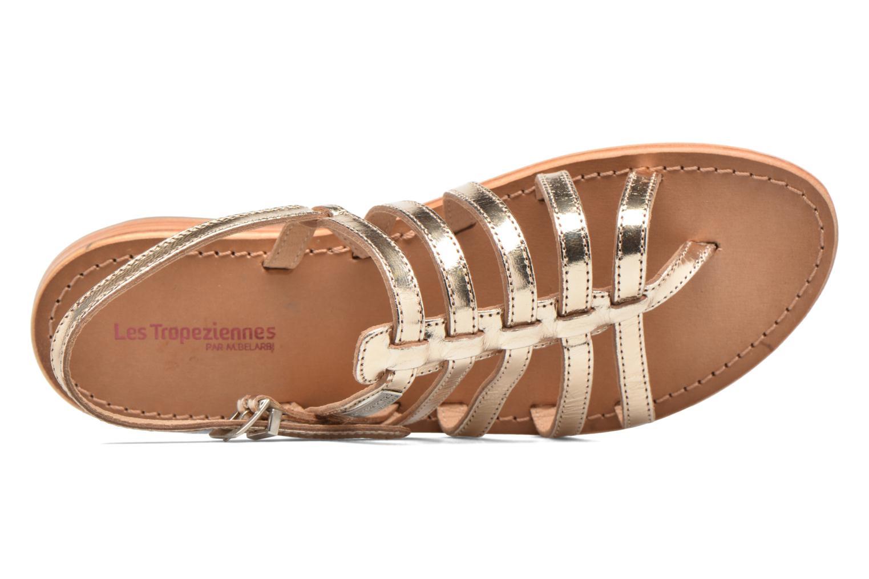 Sandales et nu-pieds Les Tropéziennes par M Belarbi Herisson Or et bronze vue gauche