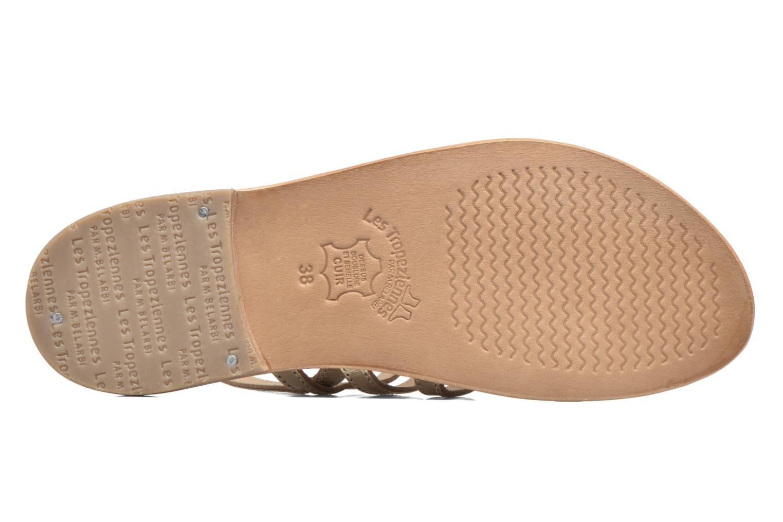 Sandales et nu-pieds Les Tropéziennes par M Belarbi Herisson Or et bronze vue haut