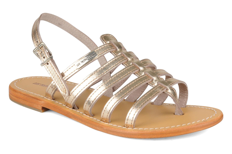 Sandales et nu-pieds Les Tropéziennes par M Belarbi Herisson Or et bronze vue détail/paire