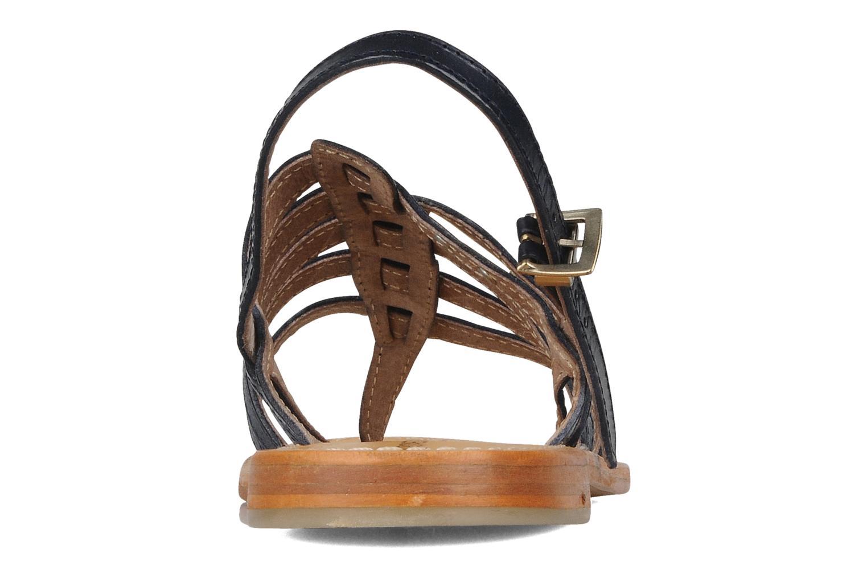 Sandales et nu-pieds Les Tropéziennes par M Belarbi Herisson Bleu vue droite