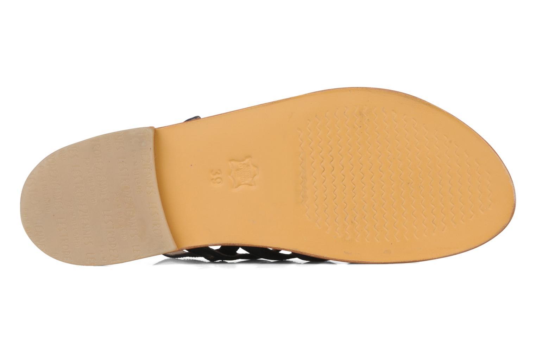 Sandales et nu-pieds Les Tropéziennes par M Belarbi Herisson Bleu vue haut
