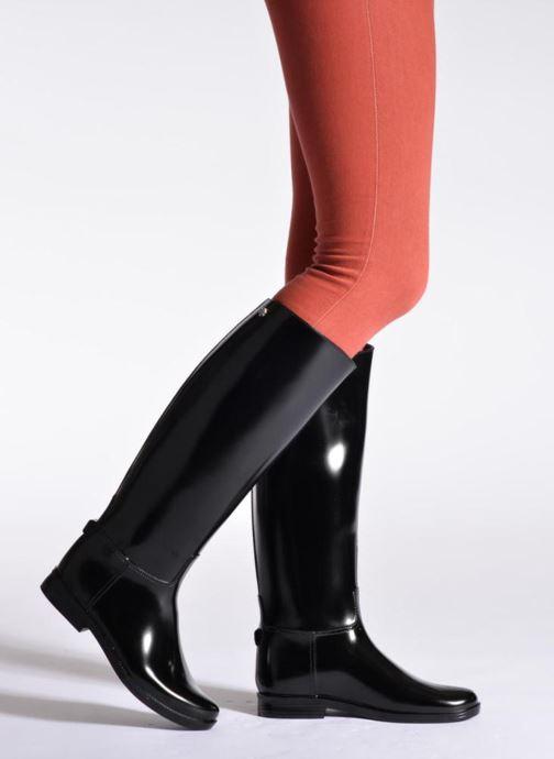 Chaussures de sport Méduse Flambor Noir vue bas / vue portée sac