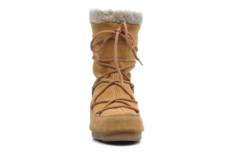 Bottines et boots Moon Boot Butter mid Marron vue portées chaussures