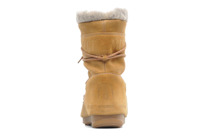 Bottines et boots Moon Boot Butter mid Marron vue droite