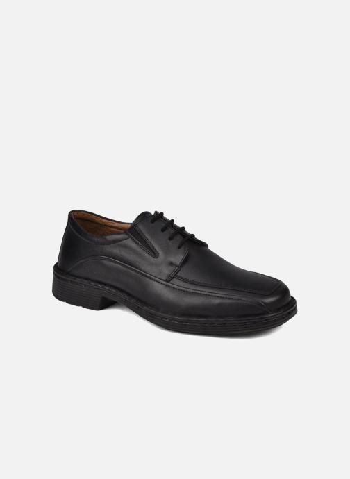 Snøresko Josef Seibel Brian Sort detaljeret billede af skoene