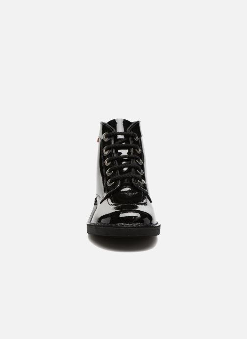 Schnürschuhe Kickers Kick color perm schwarz schuhe getragen