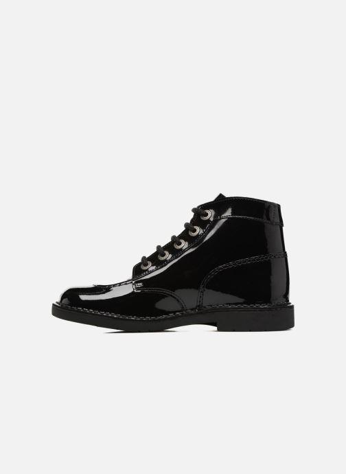 Schnürschuhe Kickers Kick color perm schwarz ansicht von vorne