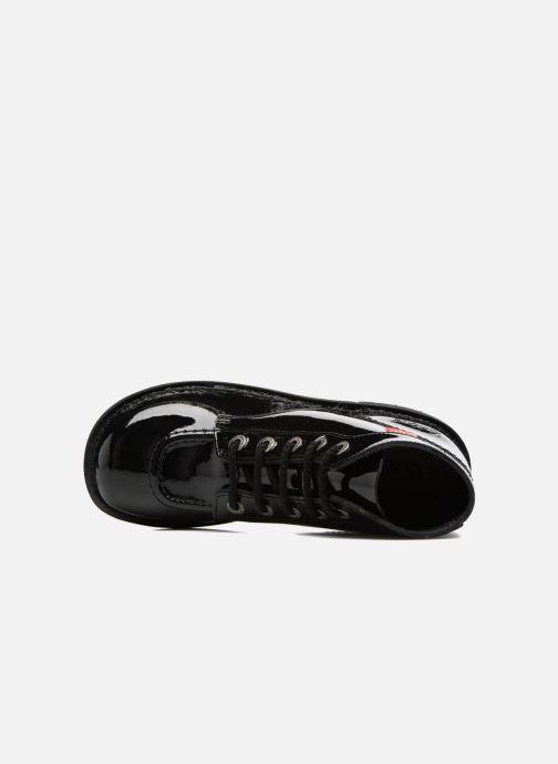 Chaussures à lacets Kickers Kick color perm Noir vue gauche