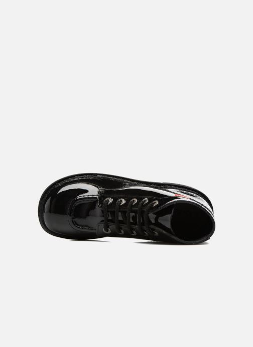 Zapatos con cordones Kickers Kick color perm Negro vista lateral izquierda