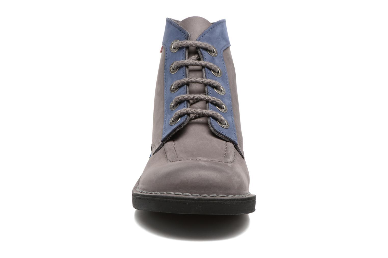 Chaussures à lacets Kickers Kick color perm Gris vue portées chaussures