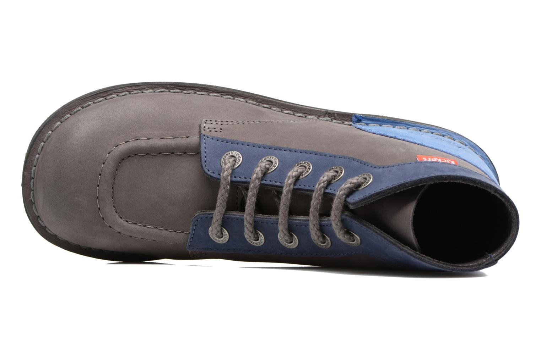 Chaussures à lacets Kickers Kick color perm Gris vue gauche
