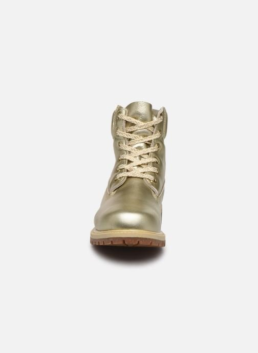 Bottines et boots Timberland 6in premium boot w Or et bronze vue portées chaussures