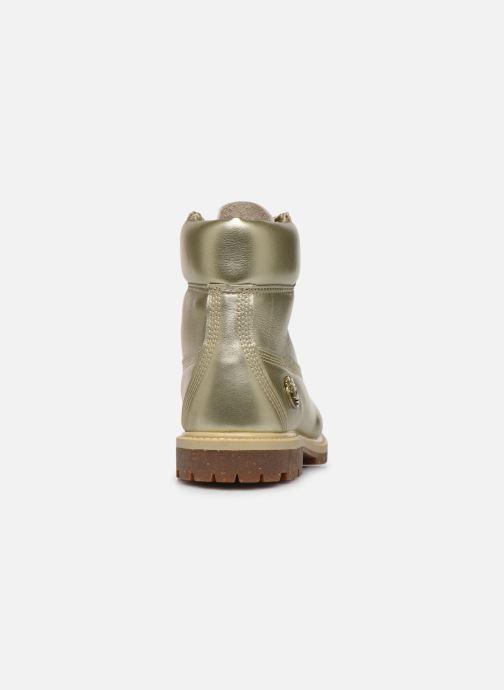 Bottines et boots Timberland 6in premium boot w Or et bronze vue droite