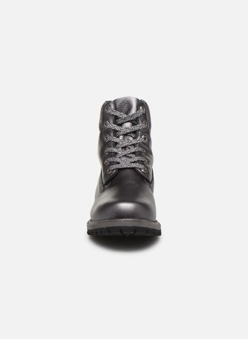 Botines  Timberland 6in premium boot w Plateado vista del modelo