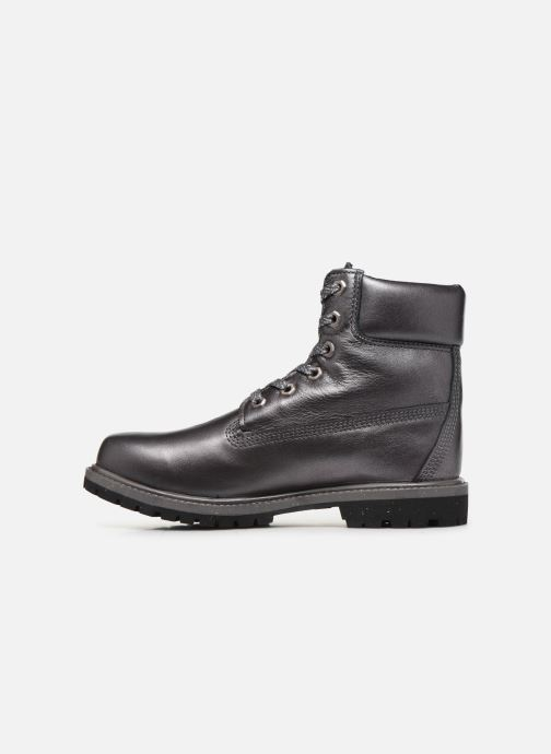 Botines  Timberland 6in premium boot w Plateado vista de frente