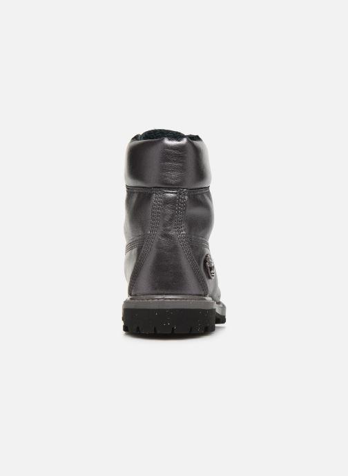 Botines  Timberland 6in premium boot w Plateado vista lateral derecha