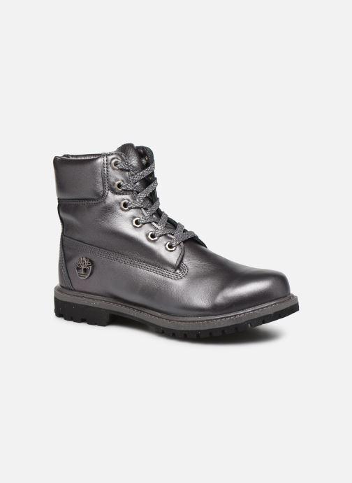 Botines  Timberland 6in premium boot w Plateado vista de detalle / par