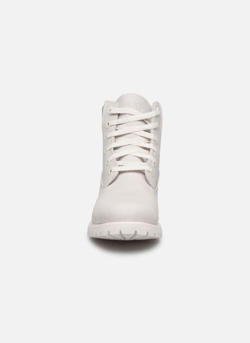 Botines  Timberland 6in premium boot w Blanco vista del modelo