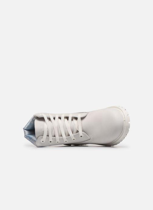 Botines  Timberland 6in premium boot w Blanco vista lateral izquierda