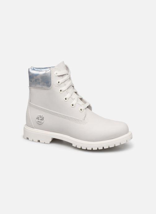 Botines  Timberland 6in premium boot w Blanco vista de detalle / par
