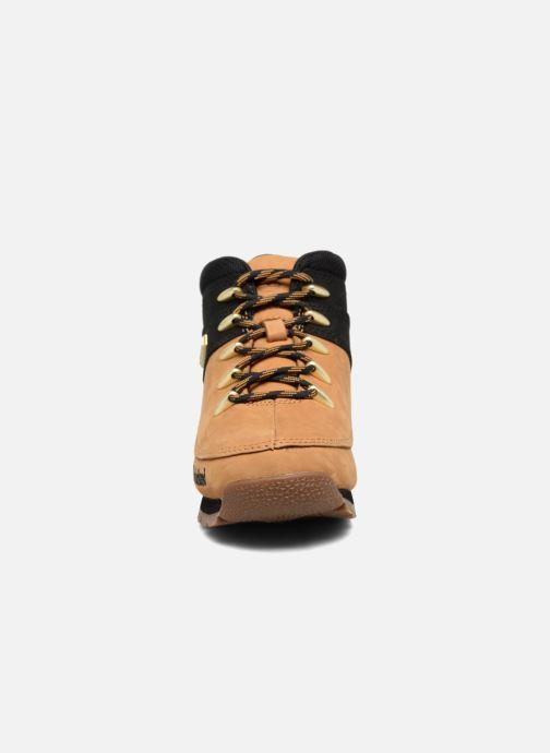 Bottines et boots Timberland Euro sprint Kids Marron vue portées chaussures