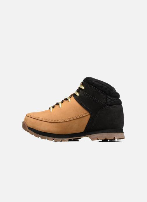 Boots en enkellaarsjes Timberland Euro sprint Kids Bruin voorkant