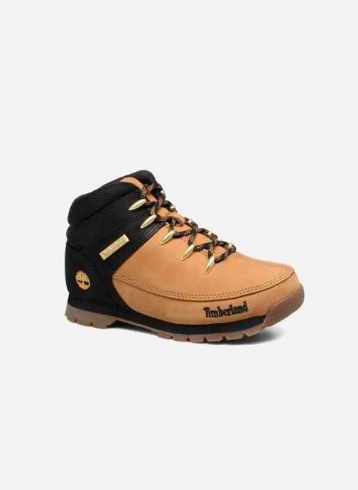 Bottines et boots Timberland Euro sprint Kids Marron vue détail/paire