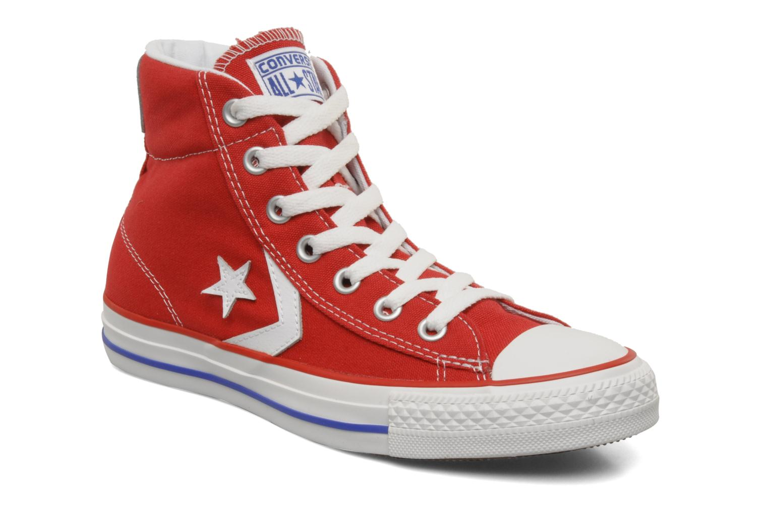 ... low cost trainers converse star player ev canvas mid w red detailed  view pair view 10438 ... b141fe3b0
