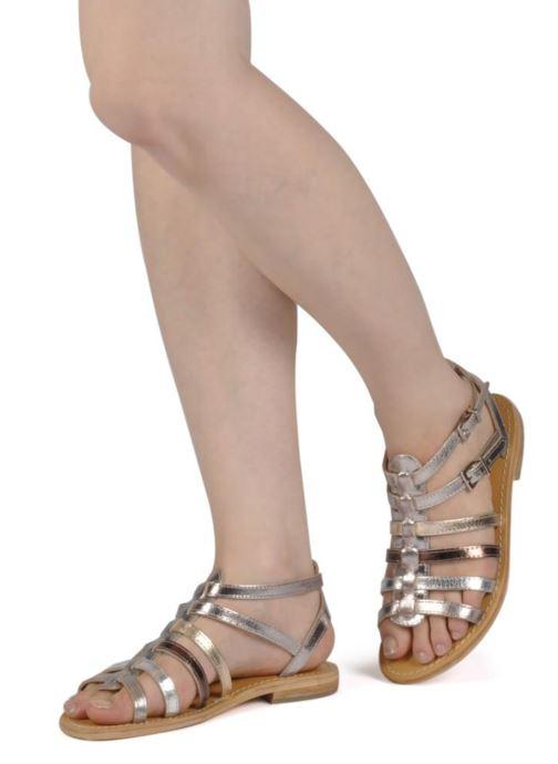 Sandales et nu-pieds Les Tropéziennes par M Belarbi Hic Argent vue bas / vue portée sac