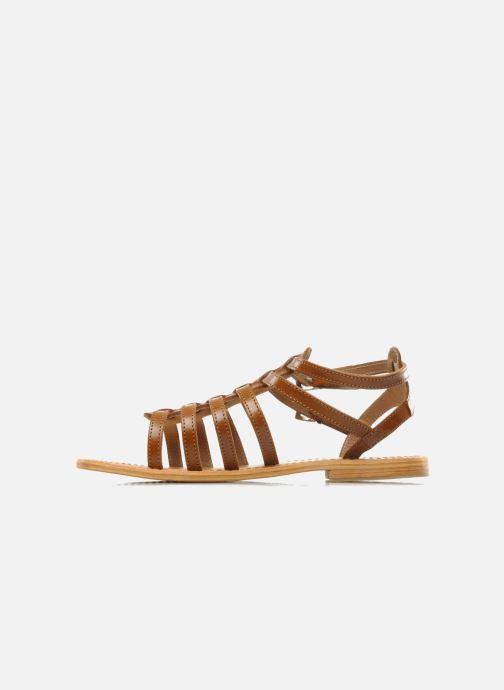 Sandales et nu-pieds Les Tropéziennes par M Belarbi Hic Marron vue face
