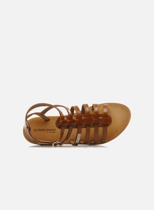 Sandales et nu-pieds Les Tropéziennes par M Belarbi Hic Marron vue gauche