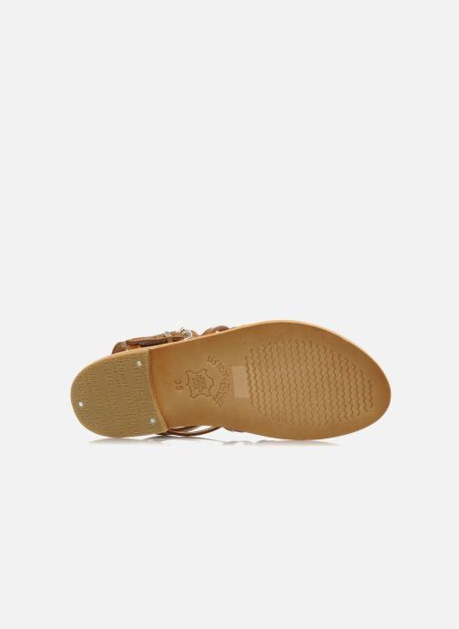 Sandales et nu-pieds Les Tropéziennes par M Belarbi Hic Marron vue haut