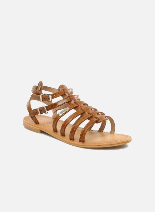 Sandales et nu-pieds Les Tropéziennes par M Belarbi Hic Marron vue détail/paire