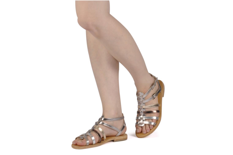 Sandals Les Tropéziennes par M Belarbi Hic Silver view from underneath / model view