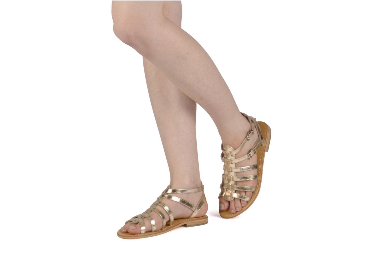 Sandales et nu-pieds Les Tropéziennes par M Belarbi Hic Or et bronze vue bas / vue portée sac