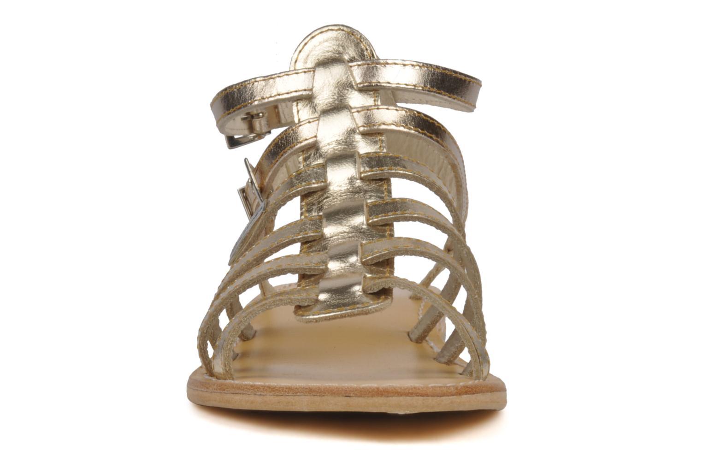 Sandales et nu-pieds Les Tropéziennes par M Belarbi Hic Or et bronze vue portées chaussures