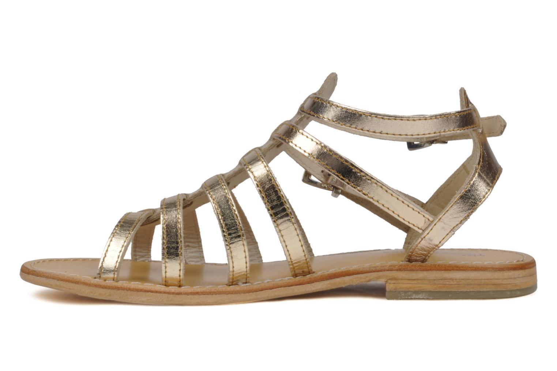 Sandales et nu-pieds Les Tropéziennes par M Belarbi Hic Or et bronze vue face