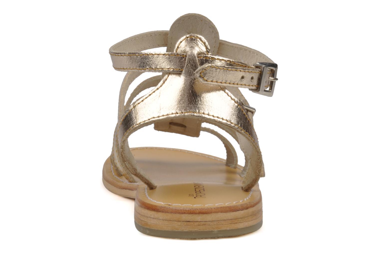 Sandales et nu-pieds Les Tropéziennes par M Belarbi Hic Or et bronze vue droite